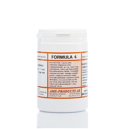 Formula 4 främjar njurarna och urinvägarnas funktion