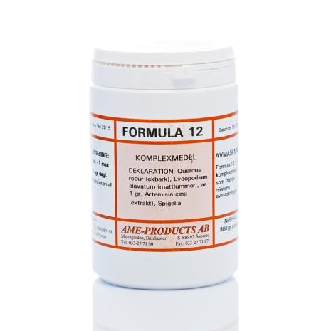 Formula 12 påverkar maskangrepp