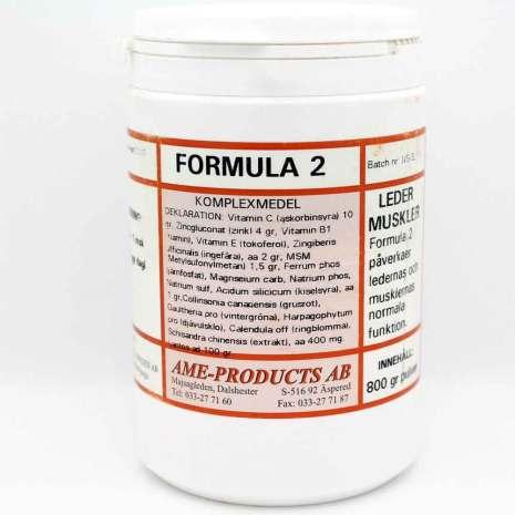 Formula 2 främjar leder och musklers funktion